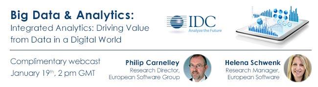 Big Data Analytics Webcast IDC