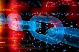 Digital chain - Blockchain technology concept